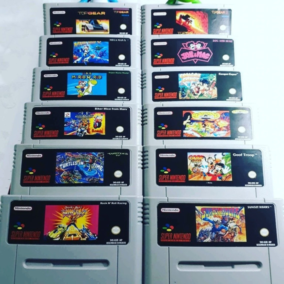 Lote De 12 Jogos De Super Nintendo