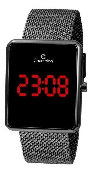 Relógio Champion Unissex Digital Ch40080c Grafite Quadrado