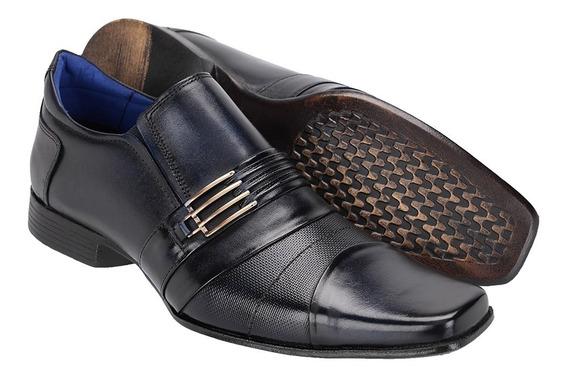 Sapato Masculino Social Em Couro Costurada Mão Khaata 15101