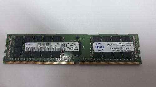 Imagem 1 de 3 de Memória Dell 32gb Ddr4 2400mhz Rdimm 2rx4 Ecc Reg