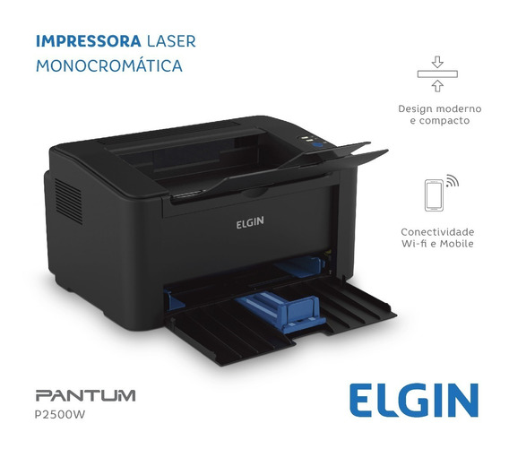 Impressora Elgin Pantum Laser Mono Wi-fi P2500w 128 Mb