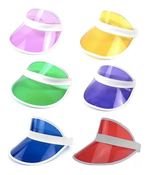 Visera Retro X 1 Gorro Plastico Colores Poker Cotillon