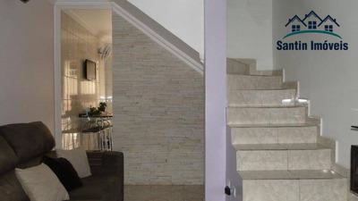 Sobrado Com 2 Dormitórios,cozinha Planejada,fino Acabamento,vaga De Garagem À Venda, 69 M² Por R$ 280.000 - Jardim Santo André - Santo André/sp - So0243