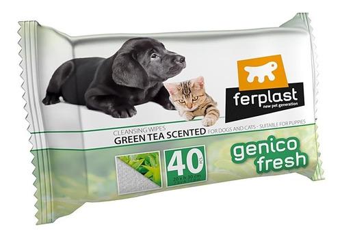 Toallitas Húmedas Para Mascotas Genico Fresh Glove 40 Un.