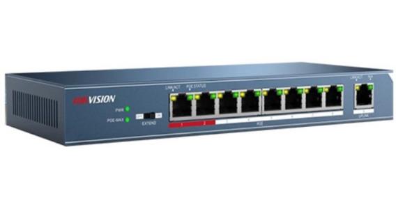 Switch Poe Hikvision 8 Puertos 10/100 Mb/s Ds-3e0109p-e/m