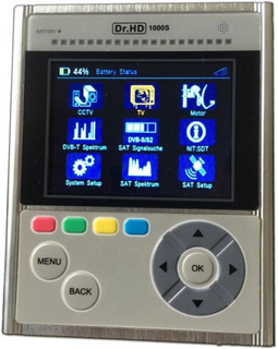 Apuntador Satelital Dr. Hd 1000s Spectrum Analizer Cctv Hdmi