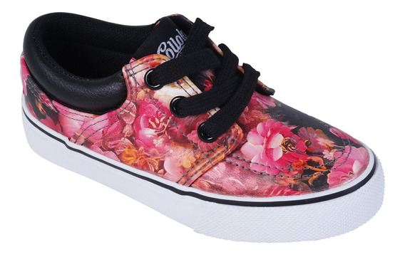 Zapatilla Urbano Fucsia Floreado Girl Colloky