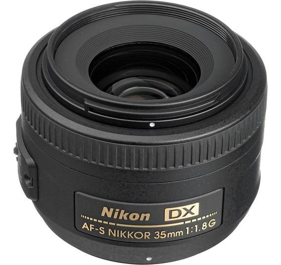 Lente Nikon 35 Mm Af-s F 1,8, 1 Año De Garantía Oficial.