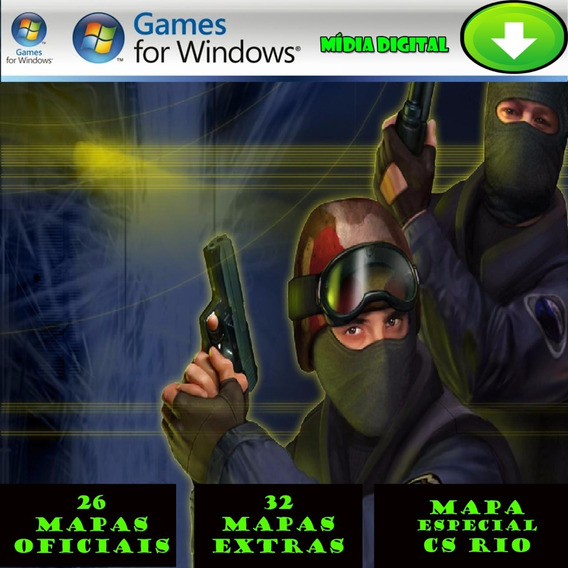 Counter Strike 1.6 Cs Para Computador Pc Mídia Digital+bonus