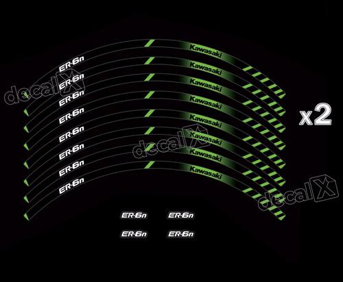 Adesivo Friso Refletivo Roda Moto Kawasaki Er6n Fri84 Er 6n