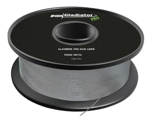 Alambre Flux Mig Gladiator Suelda Sin Gas Rollo 0,6mm 1kg