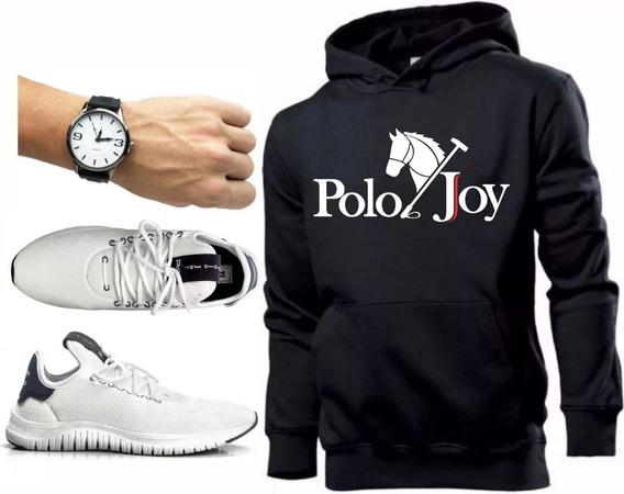 Tenis Masculino Moletom Polo Joy Promoção C/ Relógio!