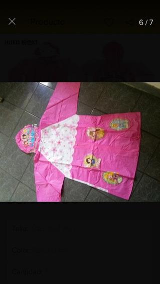 Impermeable Para Niñas De 6 A 8 Años Modelo Princesas