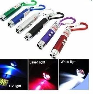 Mini Chaveiros C/ Laser Pointer Lanterna Led Kit 12 Unidades