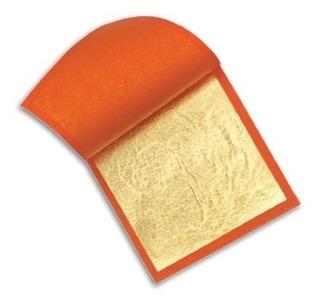 25 X Folha De Ouro Douração Restauro Artesanato 14x14