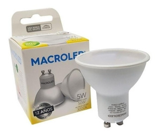 Lampara Dicroica Gu10 5.w Blanco Calido Led 220v