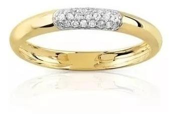 Aliança Pavezinho Ouro 18 K Com Diamantes Naturais