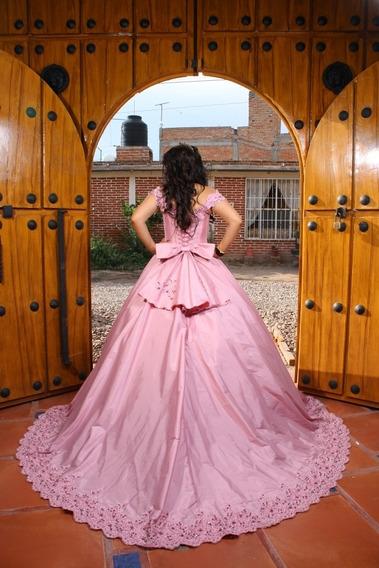 Vestido De 15 Años Rosa Palo