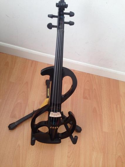Violin Eléctrico Negro 4/4 De Promoción