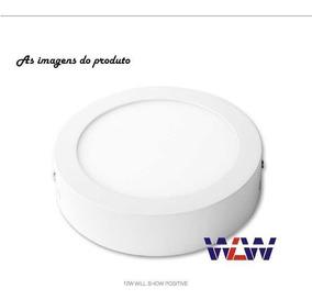 Kit 5uni Painel Plafon Led Sobrepor 18w Branco Frio Redondo