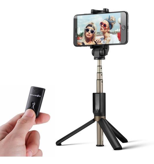 Blitzwolf Sem Fio Bluetooth Selfie Vara Tripé Mini Monopé Ex