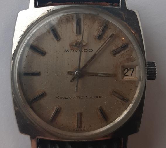 Relógio Vintage Suíço Movado Kingmatic Surf 30mm