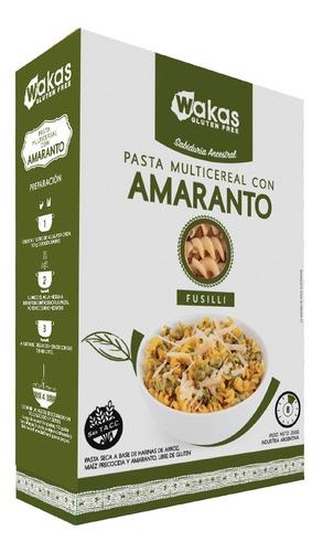 Pasta Multicereal Con Amaranto Fusilli Wakas Sin Tacc 250 Gr