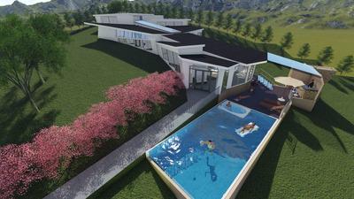 Casa Quinta Sobre Planos En Anapoima, Opcion 2