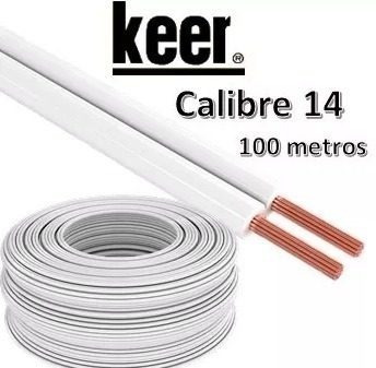 Cable Pot Duplex Calibre 14 Blanco 100 Metros Keer