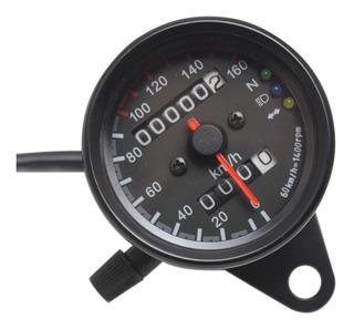 Velocímetro Odómetro P/moto Universal C/indicador Led Cafe