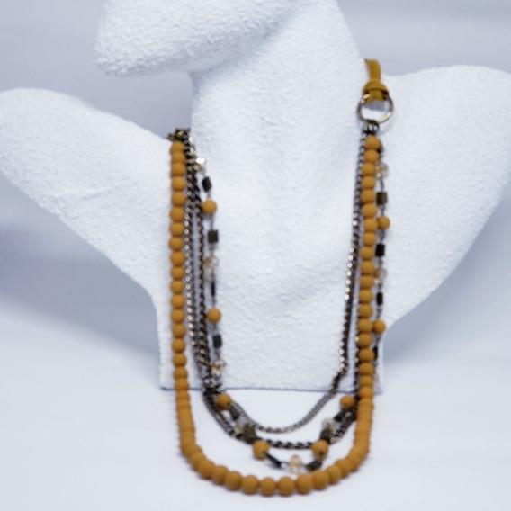 Elegante Colar De Bolas Pequenas Com Correntes - Moda Biju