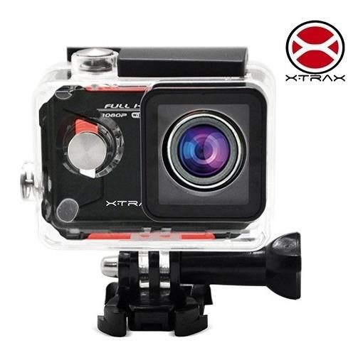 Câmera E Filmadora Xtrax Evo Preta/vermelha 12mp, Lcd 1.5 ,