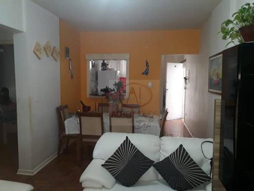 Apartamento Com Sacada, 2 Dormitórios 20 Metros Da Praia Venda, 77 M² Por R$ 445.000 - Ponta Da Praia - Santos/sp - Ap10533