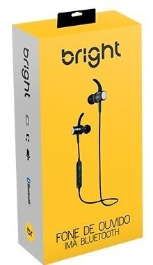 Fone De Ouvido Bluetooth C/ Microfone Intra Imã Preto