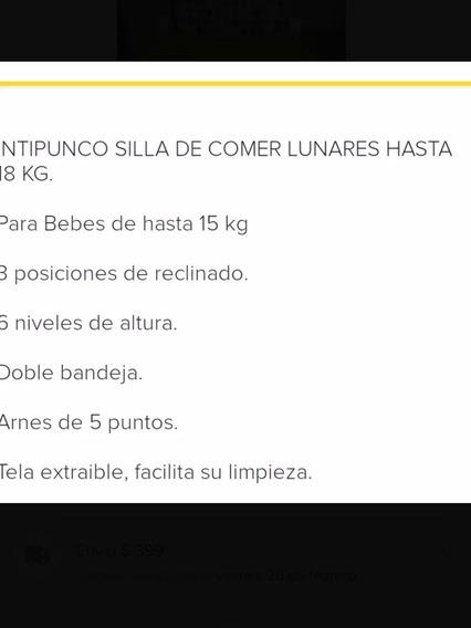 Silla De Comer Para Bebé Doble Bandeja Lunares Intipunco