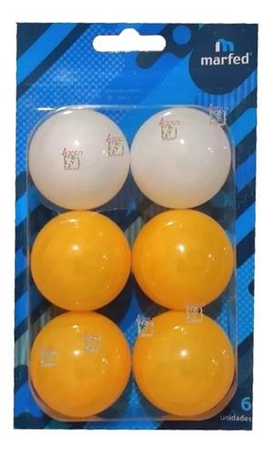 Pelotitas Pelota Ping Pong Marfed X 6 Unidades