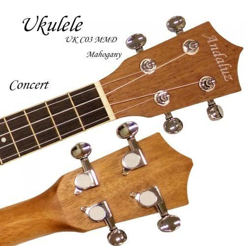 Ukulele Concert Design Floral Mogno Fosco Andaluz