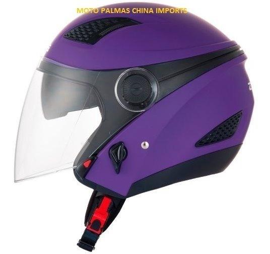 Capacete Zeus 610 Matt Purple C/ Viseira Interna 58 Promoção