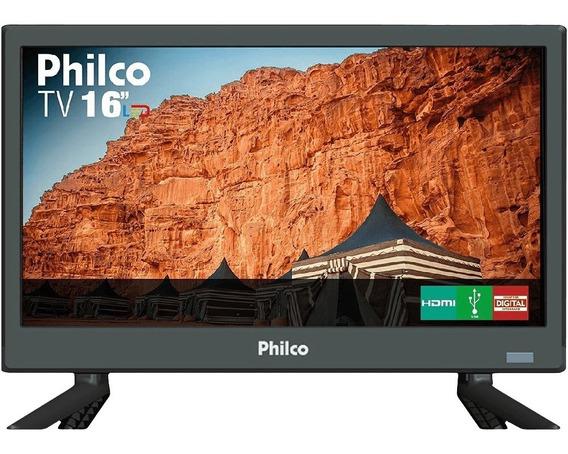 Tv Led 16 Philco Hd Ptv16s86d Com Conversor Digital 2 Hdmi