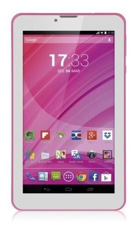Tablet Multilaser Rosa M7 3g Quad Core Câmera Wi-fi Tela Hd