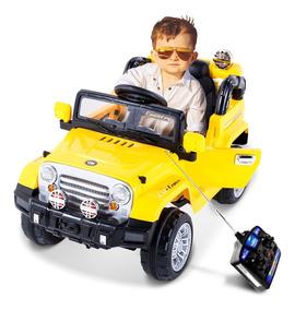 Jipe Trilha Infantil Controle Remoto 12v Amarelo - Belfix