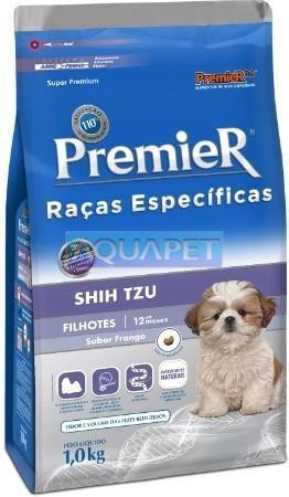 Ração Premier Raças Específicas Shih Tzu 1kg Cães Filhotes
