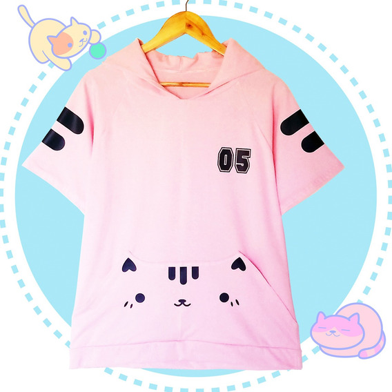 Remera Gato Neko Kawaii/ Harajuku/ Block Sheep