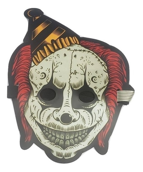 Mascara Luz Led Al Ritmo De Musica Disfraz Halloween Terror4