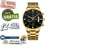 Relógio Nibosi Cronógrafo Frete Grátis Promoção