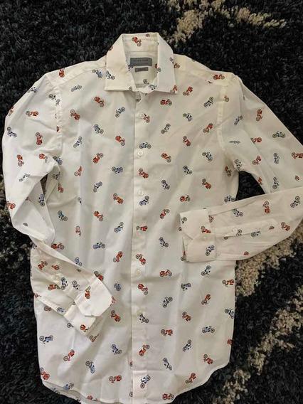 Camisa De Vestir De Estampados De Moto De La Marca Zara