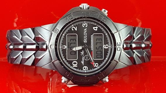 Relógio Bulova 98c59 Marine Star, Com Cronometro Digital.