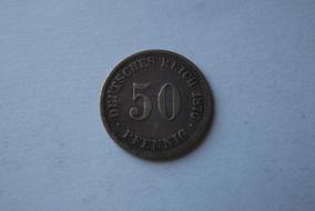 Alemanha- 50 Pfennig 1876 Prata