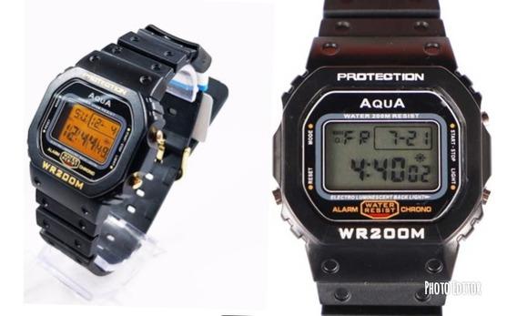 Kit 10 Relógio Masculino Aqua 5 Gp 477 + 5 Gp 519 Prova D