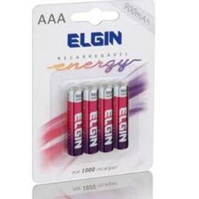 Pilhas Recarregável Aaa (palito) Energy 900 Mah Elgin 4 Unid